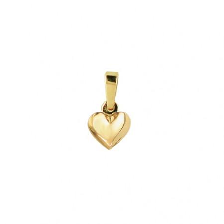 Hjerte vedhæng i 8 karat guld - 8x9 mm