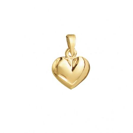 Hjerte vedhæng i 8 karat guld -10,5 x 12 mm