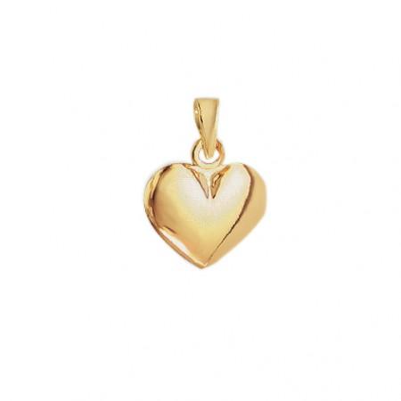 Hjerte vedhæng i 8 karat guld - 11x13 mm