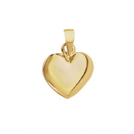 Hjerte vedhæng i 8 karat guld - 14x15,50 mm