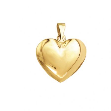 Hjerte vedhæng i 8 karat guld - 15,5x16,5 mm