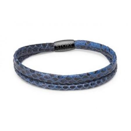 STORY slangearmbånd single, kornblå