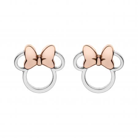 Disney Minnie Mouse ørestikker i sølv.