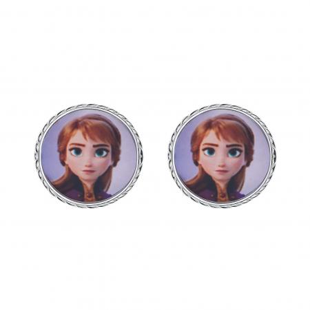 Disney Frost sølv ørestikker Cirkel med Anna.