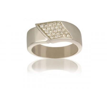 Ring i 14kt hvid guld, 0,375ct
