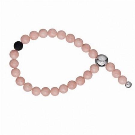 Pink opal med sølvlås-3
