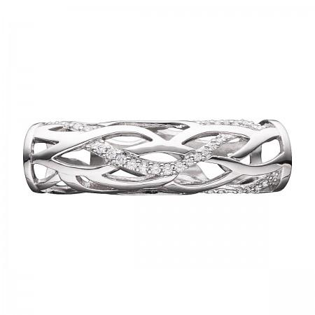 STORY Tube sølv m stene
