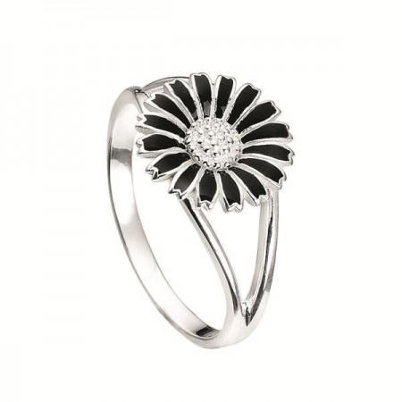 Marguerit ring K&Z - Sort 10 mm