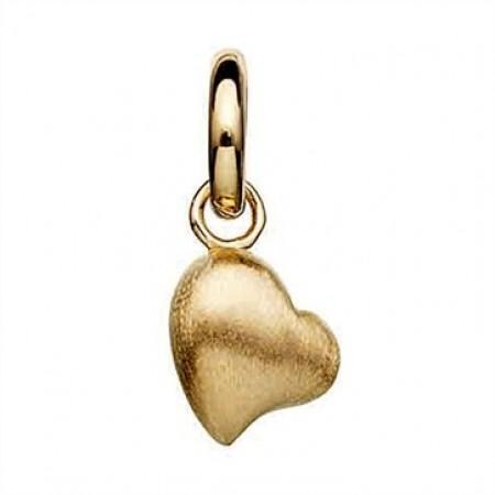 Sølv forgyldt charm hjerte