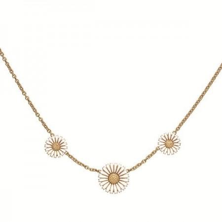 Marguerit halskæde med 3 blomster