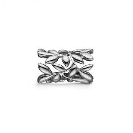 STORY Spring Leaves, sort sølv