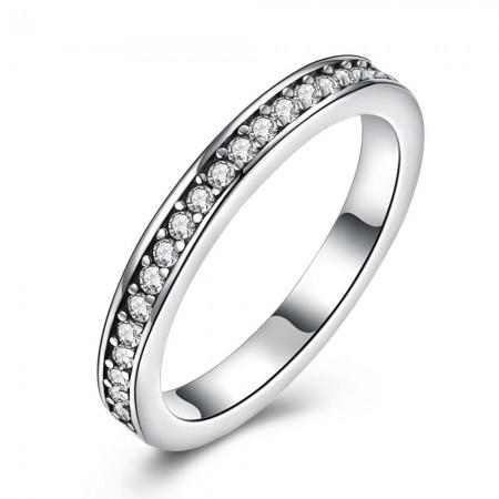 Sølv ring smalt med stene og hvid emalje