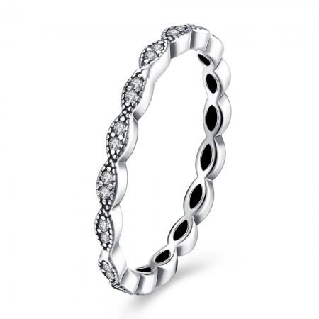 Sølv ring zirconia stene