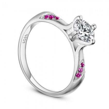 Sølv ring med zirconia stene