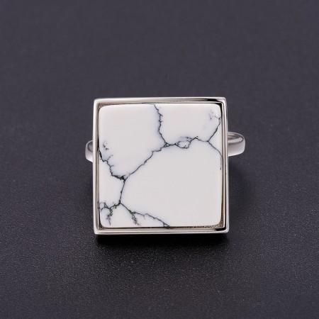 Sølv ring med marmor