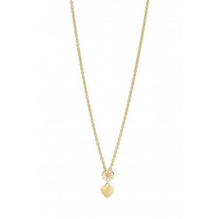 Marguerit halskæde med hjerte