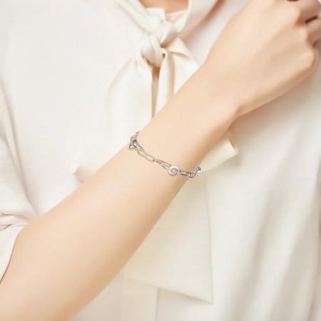 Sølvarmbånd med 2 kæder