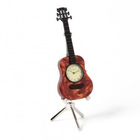 Miniature el guitar med ur, dekoration