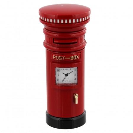 Miniature postkasse med ur