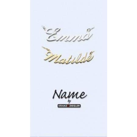 Navne halskæde i sølv fra Kranz & Ziegler
