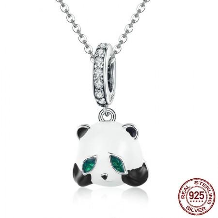 Sølv halskæde med panda