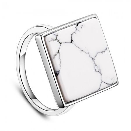 Sølv ring med marmor.