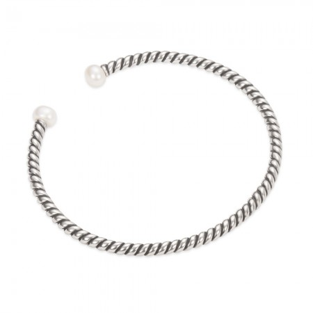 Armring med skrue og perler