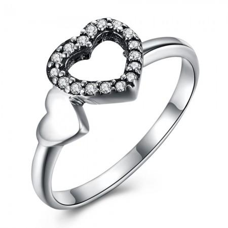 Sølv ring med hjerter