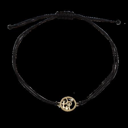 Red Barnet armbånd med forgyldt sølv 1601-KV-RB-G