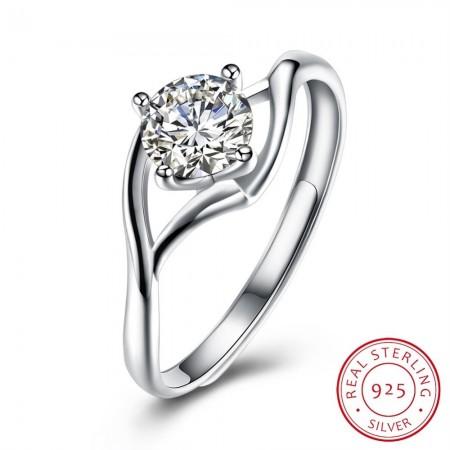 Sølv ring med zirconia sten