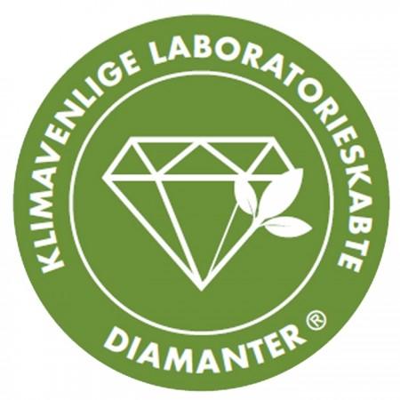Klimavenlige laboratorieskabte diamanter