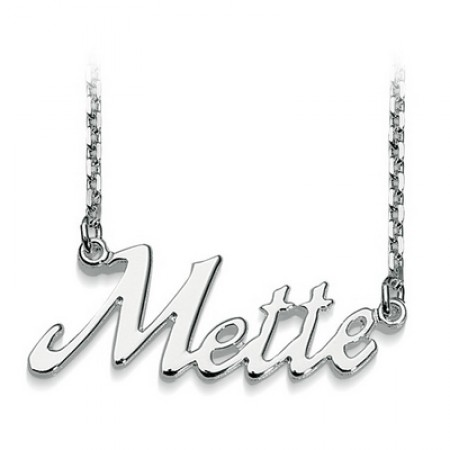 Navne halskæde i sølv