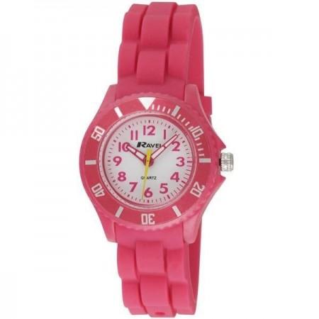 Pige ure med silicone rem-Rød
