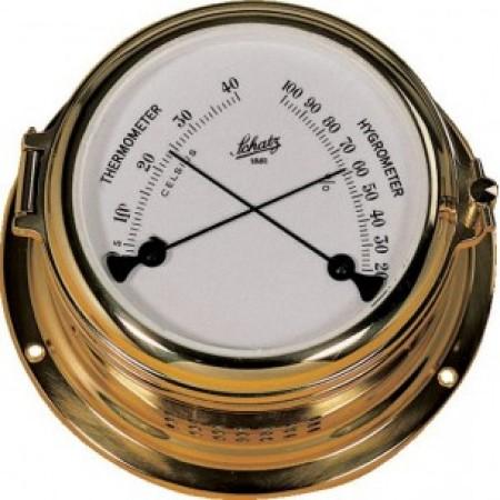 Schatz termo-/hygrometer messing, Midi