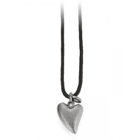 Soldier halskæde med sølv hjerte 07301031-100