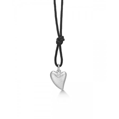Soldier halskæde med sølv hjerte 07301033-100