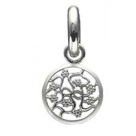 Story sølv charm med blomster