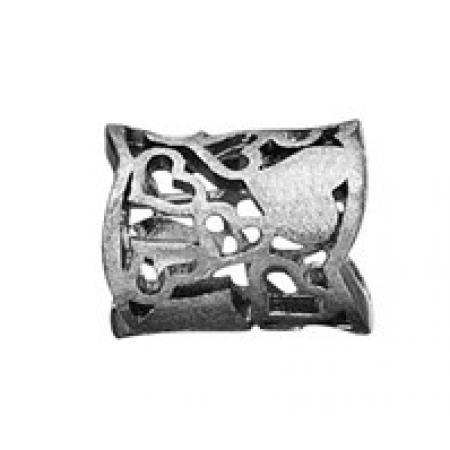 Story ring bred sort sølvring hjertemønster stor-3