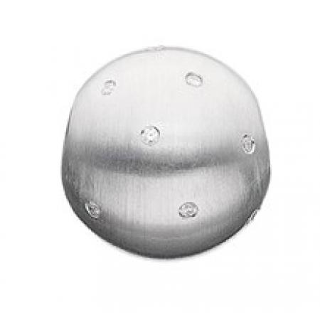 STORY sølvled, kugle med zirkonia