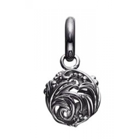 STORY charm i mørkt sølv med detaljeret kugle-3