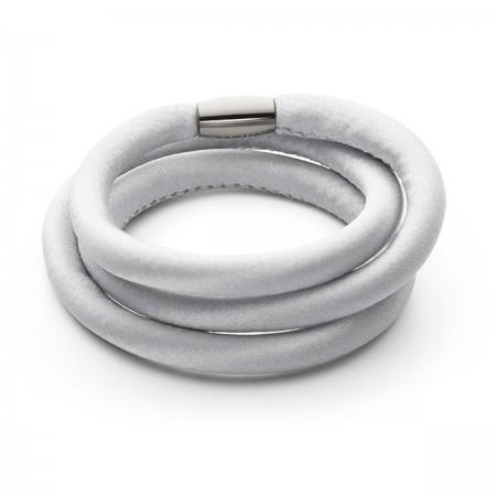 Story armbånd i grå silke