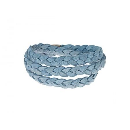 Story armbånd, ruskind, blå