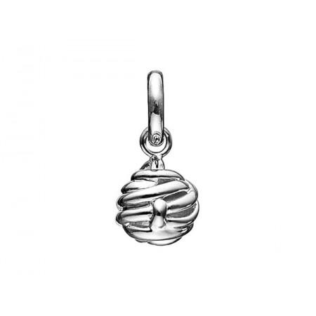 Story sølv charm, knude