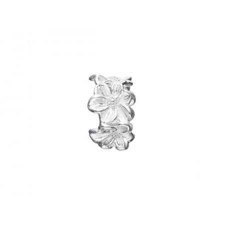 Story sølv ring, blomster