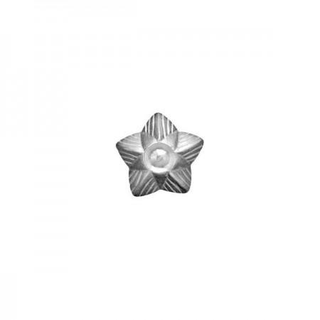 Story charm sortrhodineret sølv, admiralstjerne