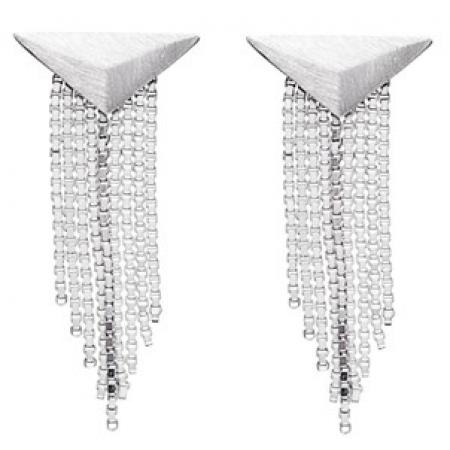 Øreringe i sølv med kæder