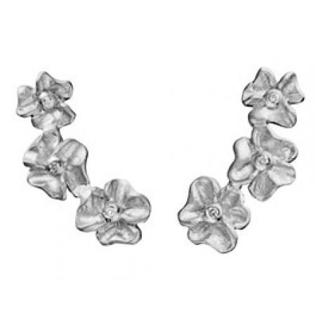 Øreringe med 3 blomster