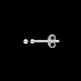 Ørestikker i sølv - Kugle 2 mm