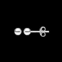 Ørestikker i sølv - Kugle 4 mm