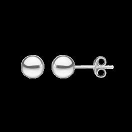 Ørestikker i sølv - Kugle 7 mm